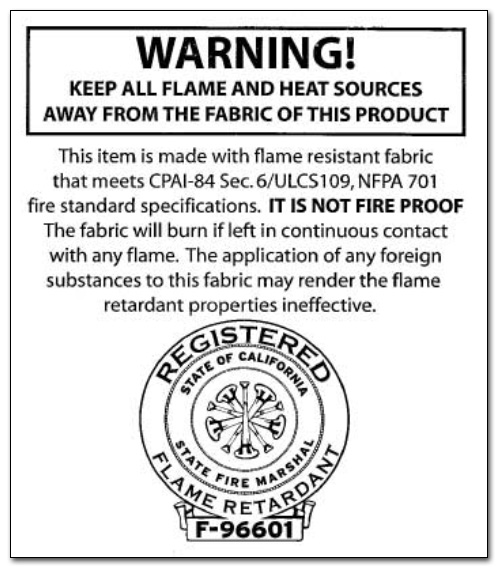 FoodTent.com Fire Label