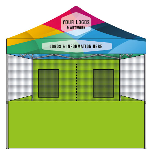 10x10 Food Vendor Tent Top Custom