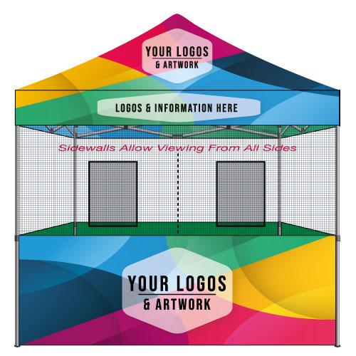 10x10 Food Vendor Tent Top Custom