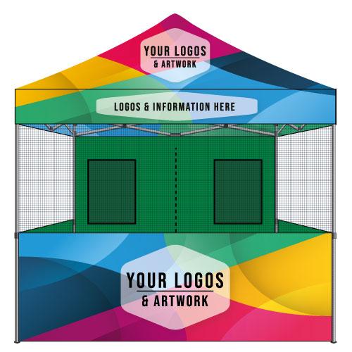10x10 Food Vendor Tent Custom