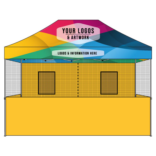10x15 Food Vendor Tent Custom Graphics