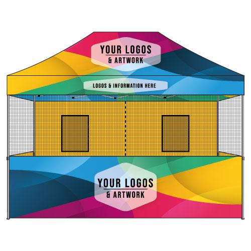 10x15 Food Vendor Tent Custom Graphics