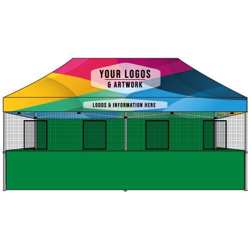 Food Vendor Tent 10x20 Custom