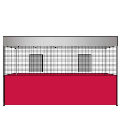 Food Vendor Tent Flame Retardant Walls