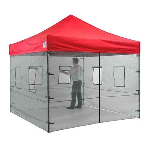 Food Vendor Tent Mesh Wall System
